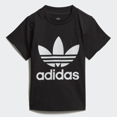 Kinder Originals Trefoil T-Shirt Schwarz