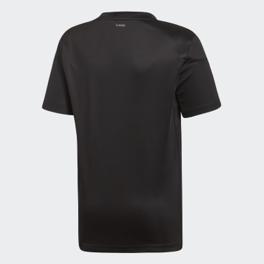 Boys Padel Tennis Black 3-Stripes Club Tee