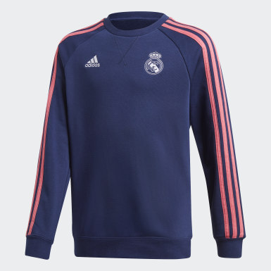 Sweat-shirt ras-du-cou Real Madrid bleu Adolescents Soccer