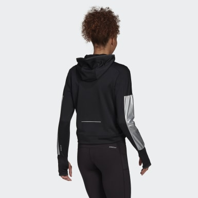 Women Running Black Space Race Hoodie