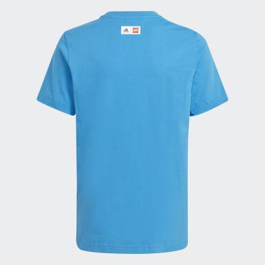 Camiseta adidas x Classic LEGO® Estampada Azul Niño Training