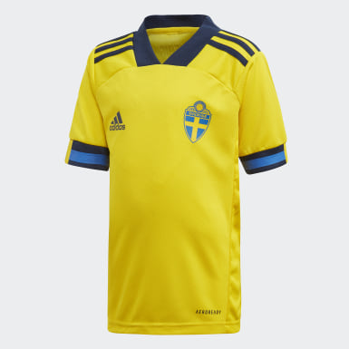 Kids Football Yellow Sweden Home Mini Kit