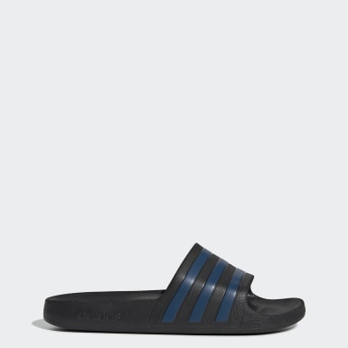 Originals Black Adilette Aqua Slides