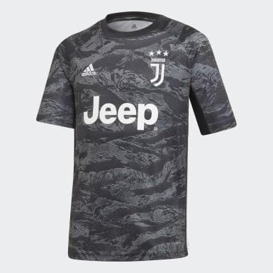 Boys Football Black Juventus Goalkeeper Jersey