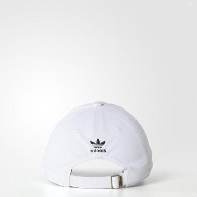 Men's Originals White Originals Relaxed Strap-Back Hat