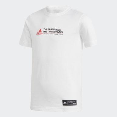 T-shirt London Bus Hustle Bianco Ragazzo Training