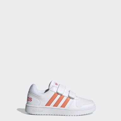 Kids Sport Inspired White Hoops 2.0 Shoes