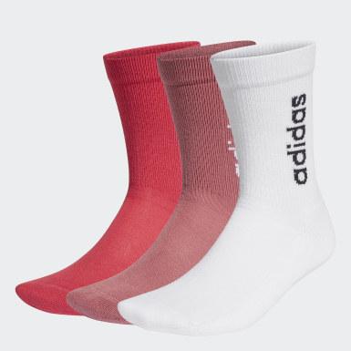 Calcetines clásicos Half-Cushioned Vertical Blanco Deportes De Invierno