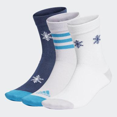 Børn Træning Blå Frozen sokker, 3 par