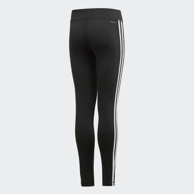 เด็กผู้หญิง โยคะ สีดำ กางเกงรัดรูป Training Equipment 3-Stripes