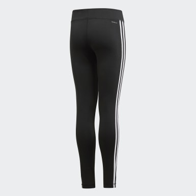 Kids Yoga Black Equip 3-Stripes Tights