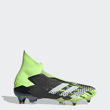 Men Football Green Predator Mutator 20+ Soft Ground Boots