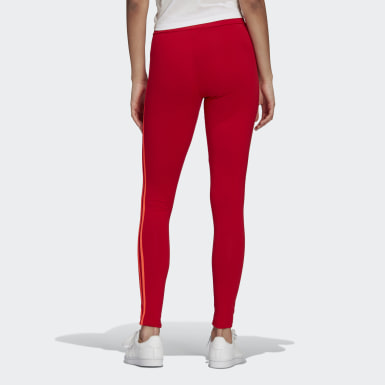 Women's Originals Red Adicolor Sliced Trefoil High-Waisted Tights