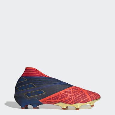 Zapatos de Fútbol Nemeziz 19+ Terreno Firme Rojo Hombre Fútbol
