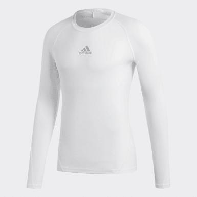Camiseta Alphaskin Sport Blanco Hombre Fútbol