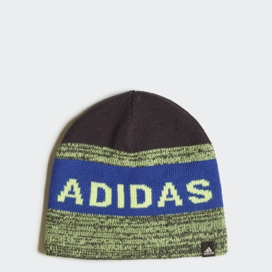 Kids Winter Sports Blue Graphic Beanie