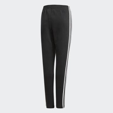 Calças em Fleece 3-Stripes Essentials Preto Rapazes Athletics