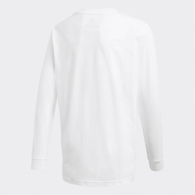 Youth Originals White Long Sleeve Tee