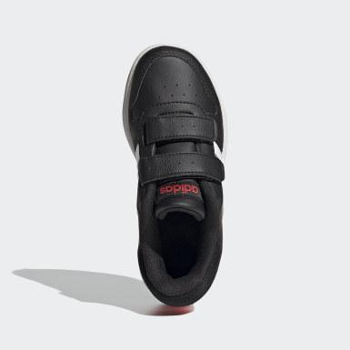 Kids 4-8 Years Basketball Black Hoops 2.0 Shoes