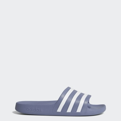 Women Essentials Blue Adilette Aqua Slides