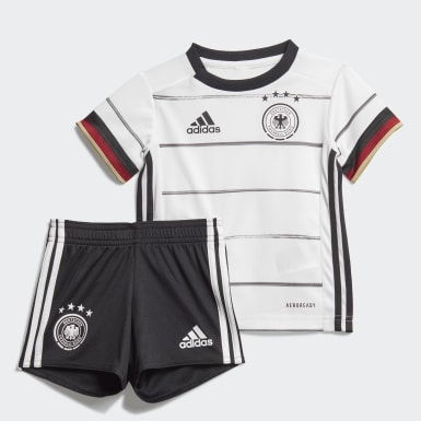 Barn Fotboll Vit Germany Home Baby Kit