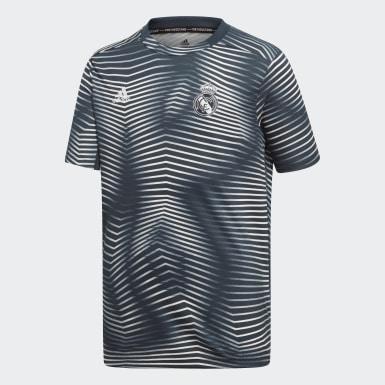 Camisola de Aquecimento do Real Madrid Cinzento Criança Futebol