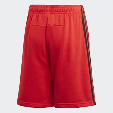 Youth Essentials Red Must Haves Badge of Sport Shorts
