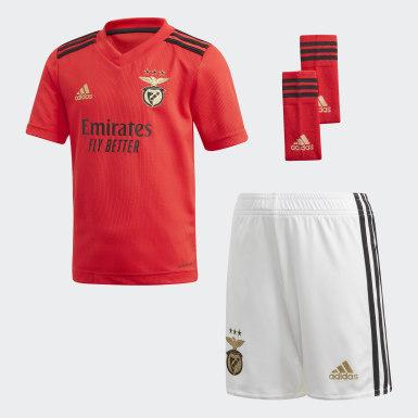 Conjunto primera equipación Benfica 20/21 Rojo Niño Fútbol