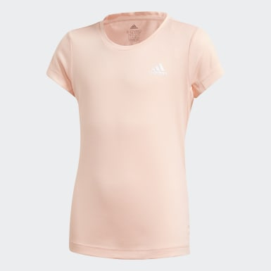 Kids Yoga Pink AEROREADY Tee