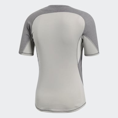Heren Veld Hockey Grijs Alphaskin Sport Heather T-shirt