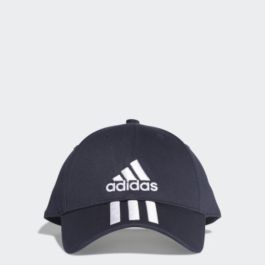 Six-Panel Classic 3-Stripes Caps Blå