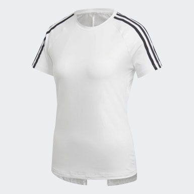 T-shirt Design 2 Move 3-Stripes Blanc Femmes Training