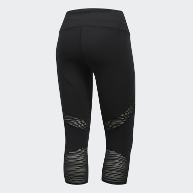 Women Running Black How We Do 3/4 Tights