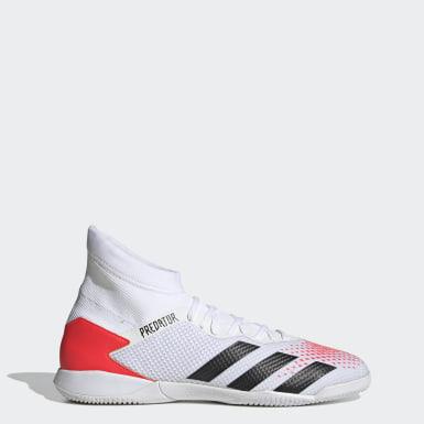 Fodbold Hvid Predator 20.3 indendørsstøvler