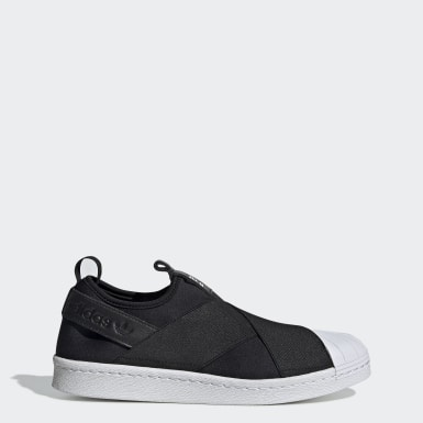 Women Originals Black Superstar Slip-On Shoes