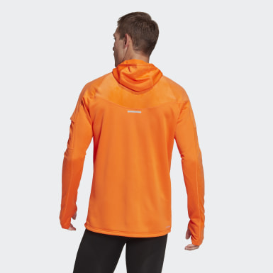 Männer Running Own the Run Warm Hoodie Orange