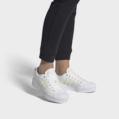Dames Originals Wit Nizza Platform Schoenen