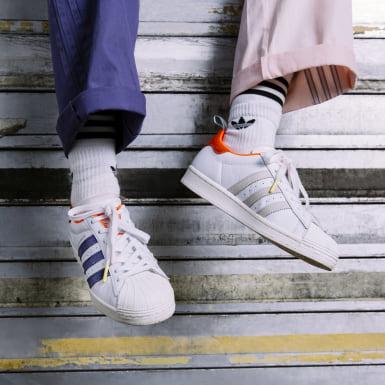 Sapatos Superstar Girls Are Awesome Branco Mulher Originals