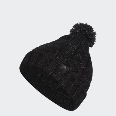 Women Golf Black Golf Pompom Beanie