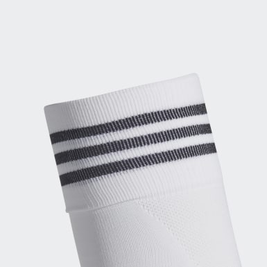 Football White AdiSocks Knee Socks