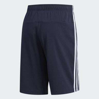 Shorts 3 Rayas Azul Hombre Training