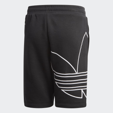 Kids Originals Black Large Trefoil Shorts