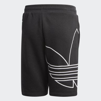 Shorts Trifolio Grande (UNISEX) Negro Niño Originals