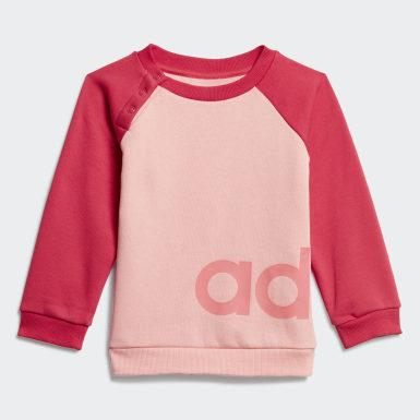 Děti Athletics růžová Souprava Linear Fleece Jogger