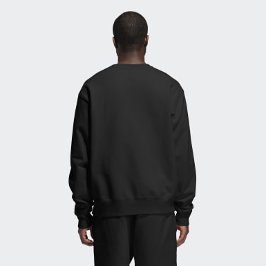 Sudadera cuello redondo Pharrell Williams Basics (Género neutro) Negro Originals
