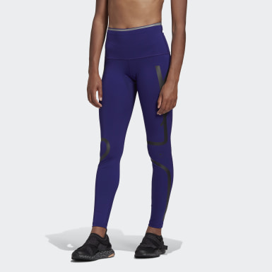 Women's adidas by Stella McCartney Purple adidas by Stella McCartney TRUEPACE Long Tights