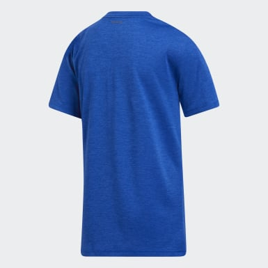 Youth Training Blue AEROREADY Dot Lines Heathered Badge of Sport Tee