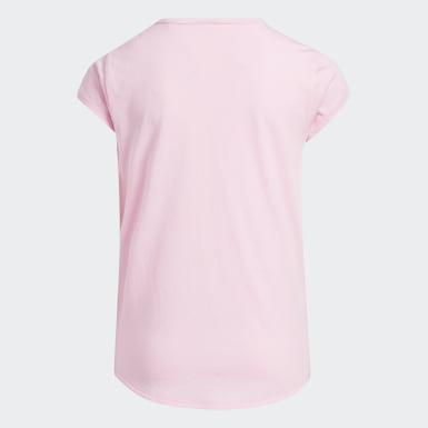 T-shirt Scoop Neck rose Enfants Entraînement
