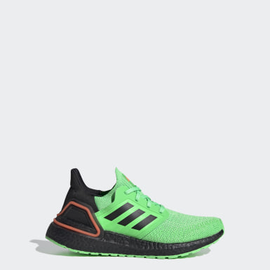 Chaussure Ultraboost 20 vert Adolescents Course