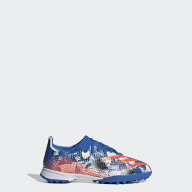 Zapatos de fútbol X Ghosted.3 Pasto Sintético Azul Niño Fútbol